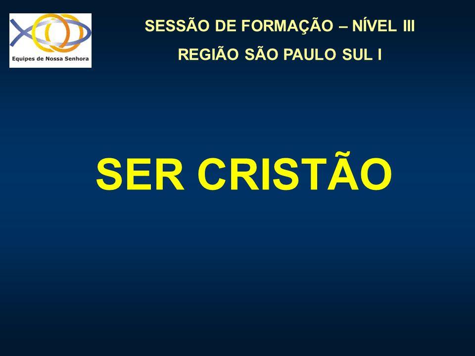 SESSÃO DE FORMAÇÃO – NÍVEL III REGIÃO SÃO PAULO SUL I SER CRISTÃO