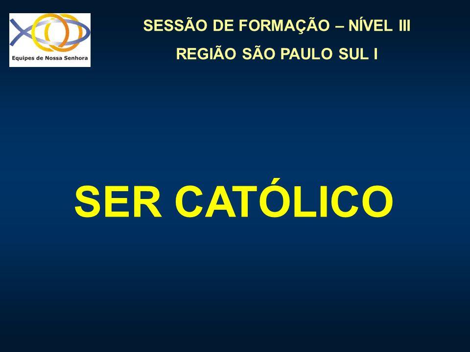 SESSÃO DE FORMAÇÃO – NÍVEL III REGIÃO SÃO PAULO SUL I FORMAÇÃO
