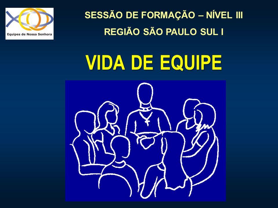 SESSÃO DE FORMAÇÃO – NÍVEL III REGIÃO SÃO PAULO SUL I VIDA DE EQUIPE VIDA DE EQUIPE