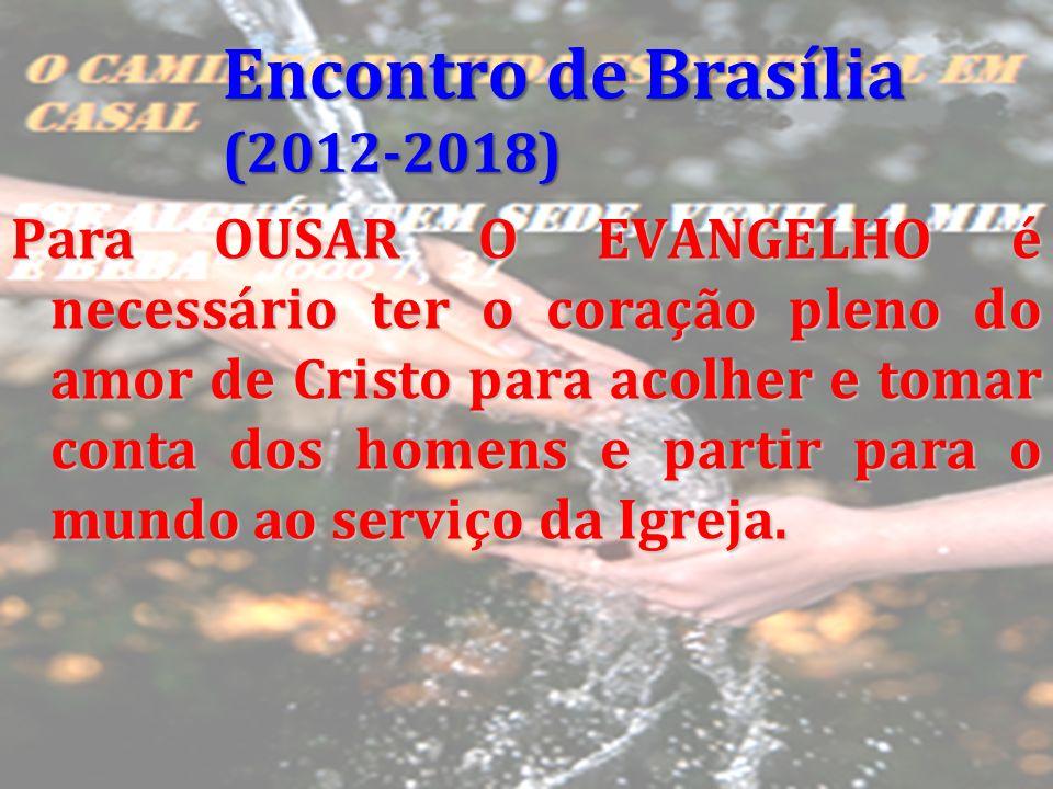 Para OUSAR O EVANGELHO é necessário ter o coração pleno do amor de Cristo para acolher e tomar conta dos homens e partir para o mundo ao serviço da Ig