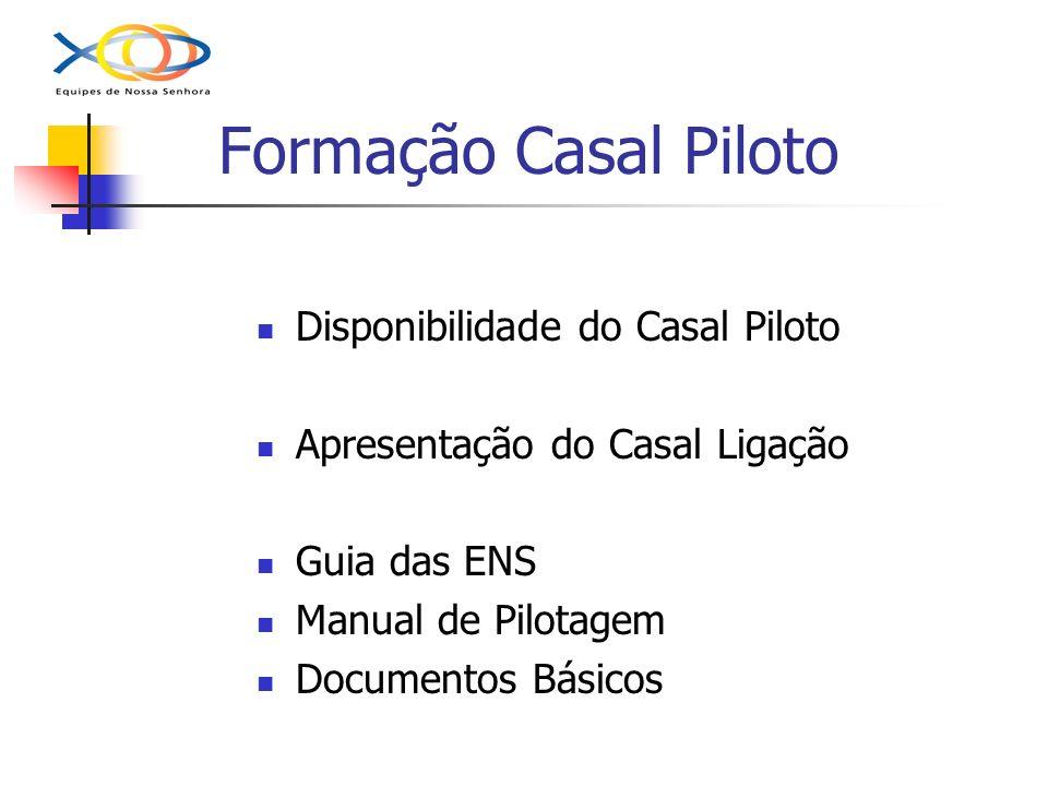 Formação Casal Piloto Disponibilidade do Casal Piloto Apresentação do Casal Ligação Guia das ENS Manual de Pilotagem Documentos Básicos