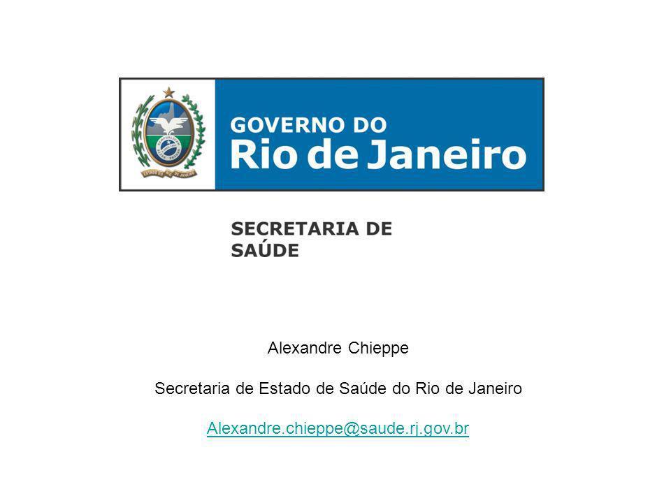 Alexandre Chieppe Secretaria de Estado de Saúde do Rio de Janeiro Alexandre.chieppe@saude.rj.gov.br
