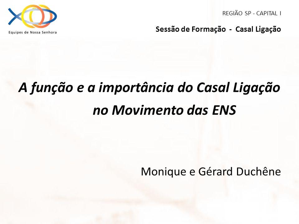 REGIÃO SP - CAPITAL I Sessão de Formação - Casal Ligação A função e a importância do Casal Ligação no Movimento das ENS Monique e Gérard Duchêne