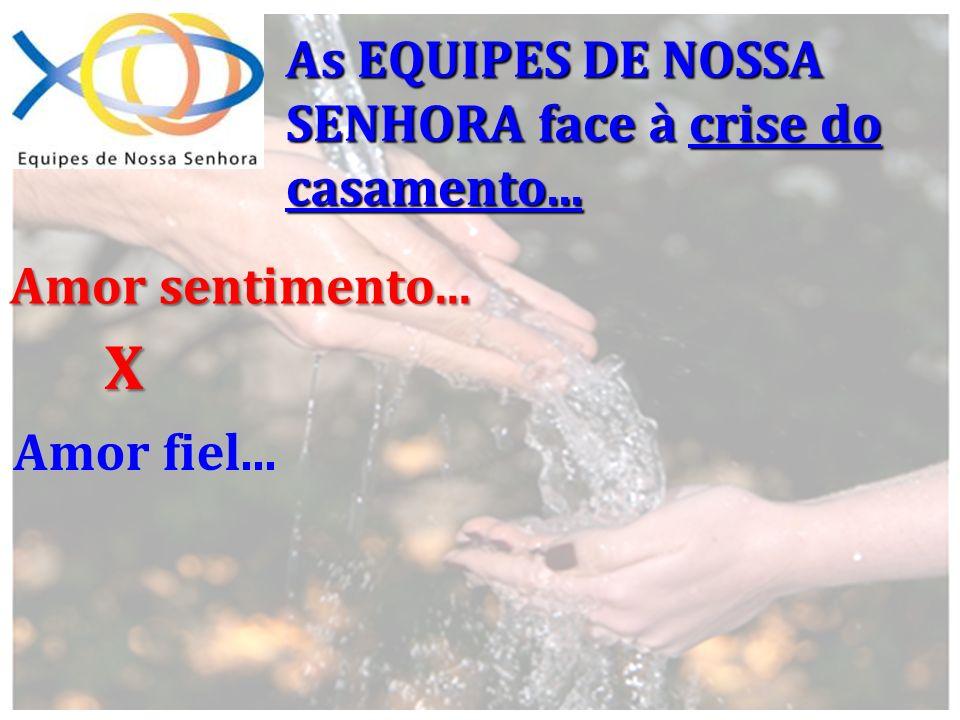 As EQUIPES DE NOSSA SENHORA face à crise do casamento... Amor sentimento... Amor fiel... X
