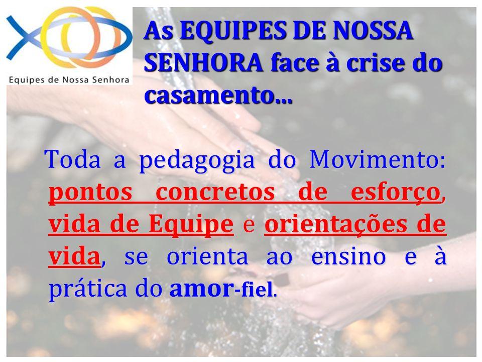 As EQUIPES DE NOSSA SENHORA face à crise do casamento... Toda a pedagogia do Movimento: pontos concretos de esforço, vida de Equipe e orientações de v