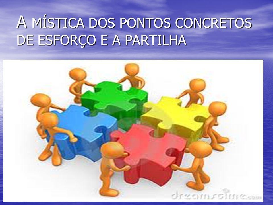 A MÍSTICA DOS PONTOS CONCRETOS DE ESFORÇO E A PARTILHA