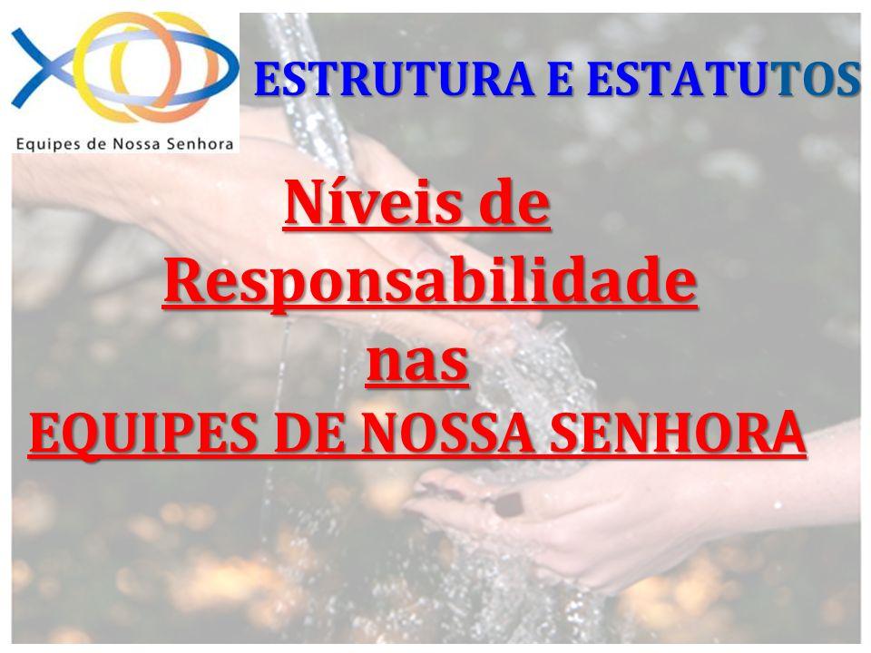 Níveis de Responsabilidade nas EQUIPES DE NOSSA SENHOR A ESTRUTURA E ESTATUTOS