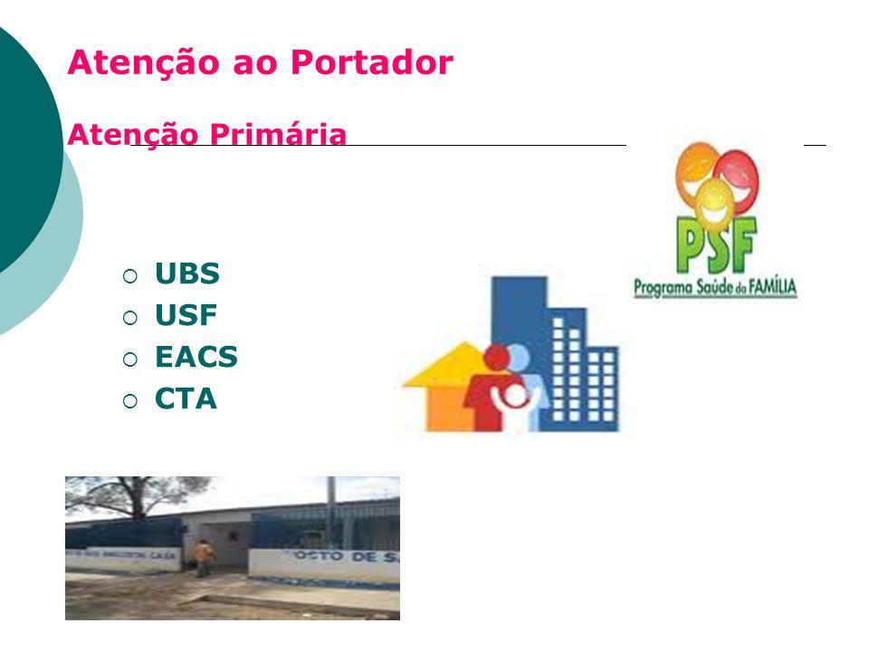 Atenção ao Portador Atenção Primária UBS USF EACS CTA