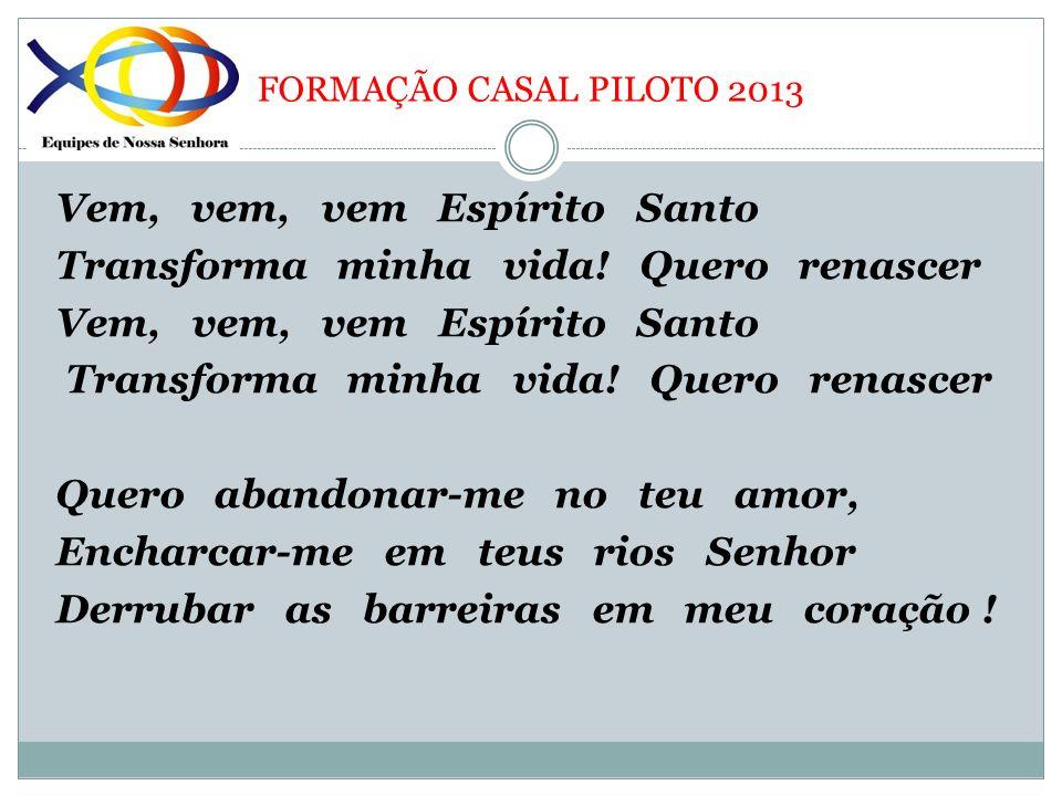 FORMAÇÃO CASAL PILOTO 2013 2.