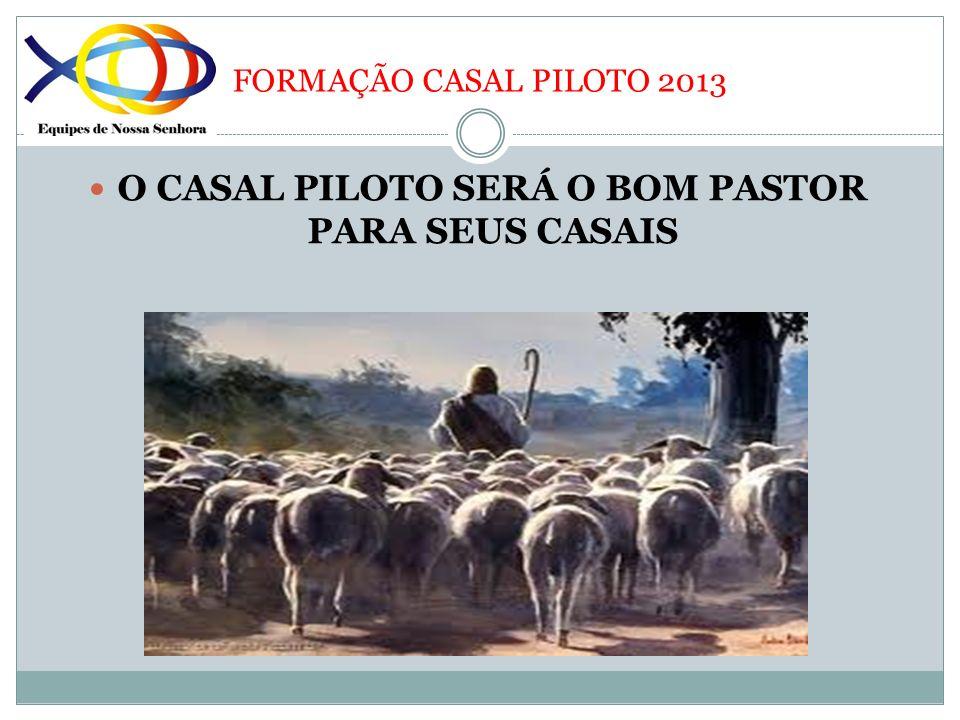 FORMAÇÃO CASAL PILOTO 2013 O CASAL PILOTO SERÁ O BOM PASTOR PARA SEUS CASAIS