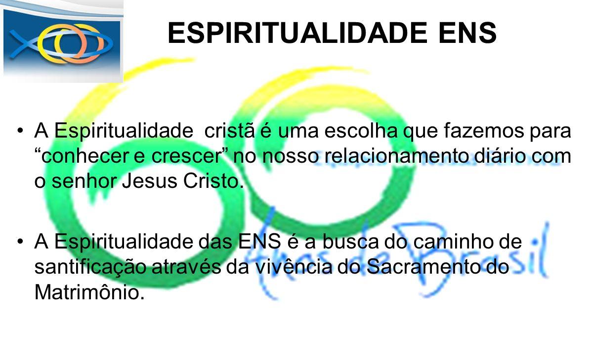 ESPIRITUALIDADE ENS A Espiritualidade cristã é uma escolha que fazemos para conhecer e crescer no nosso relacionamento diário com o senhor Jesus Crist