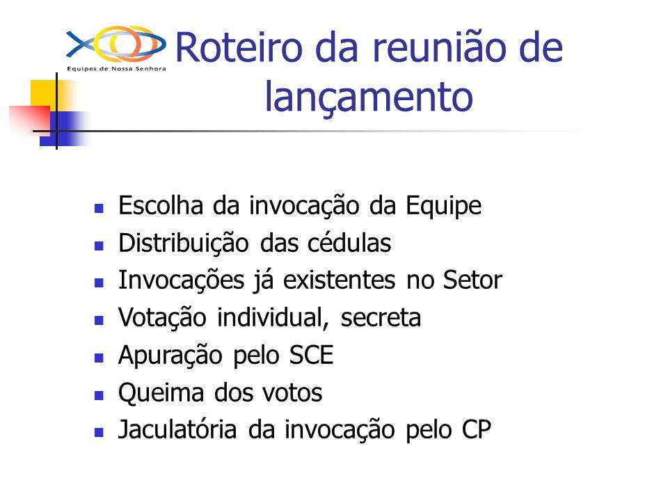 Roteiro da reunião de lançamento Presenças: Casal Piloto + Casal Expansão e/ou C R S Destaques na reunião Resumo da Pilotagem: Preparação para a equipe andar com suas próprias pernas, posteriormente.