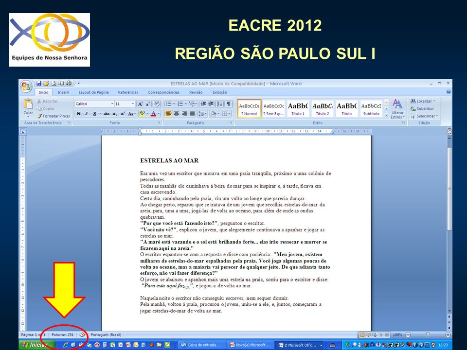 EACRE 2012 REGIÃO SÃO PAULO SUL I