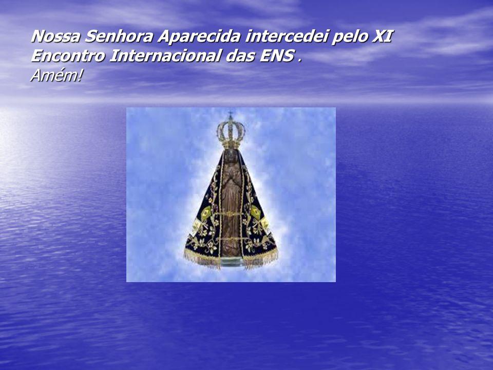 Nossa Senhora Aparecida intercedei pelo XI Encontro Internacional das ENS. Amém!
