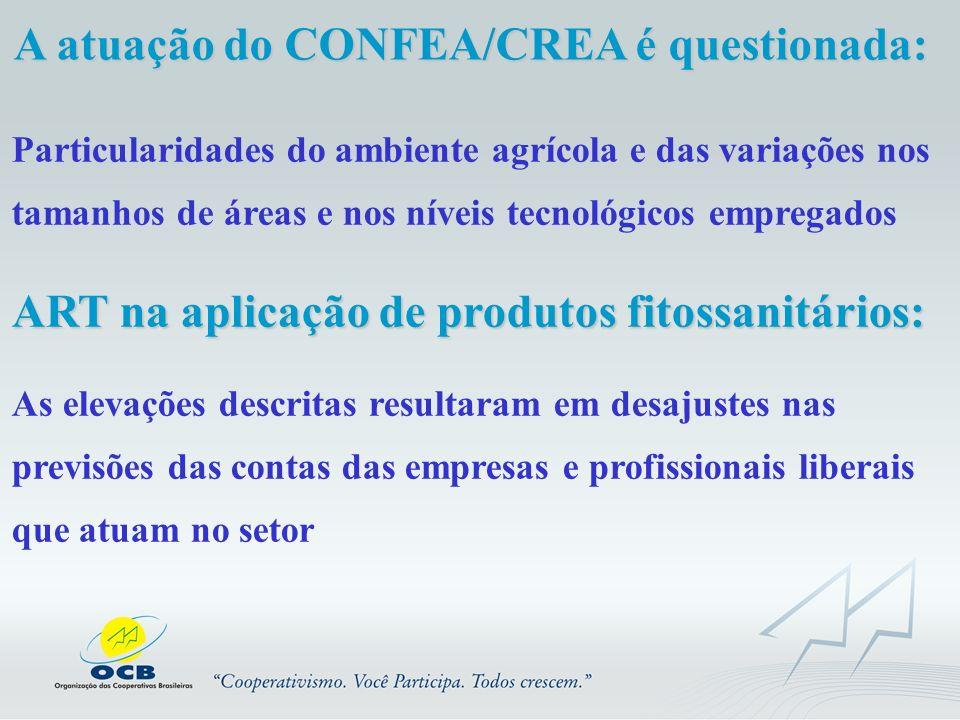 A atuação do CONFEA/CREA é questionada: Particularidades do ambiente agrícola e das variações nos tamanhos de áreas e nos níveis tecnológicos empregad