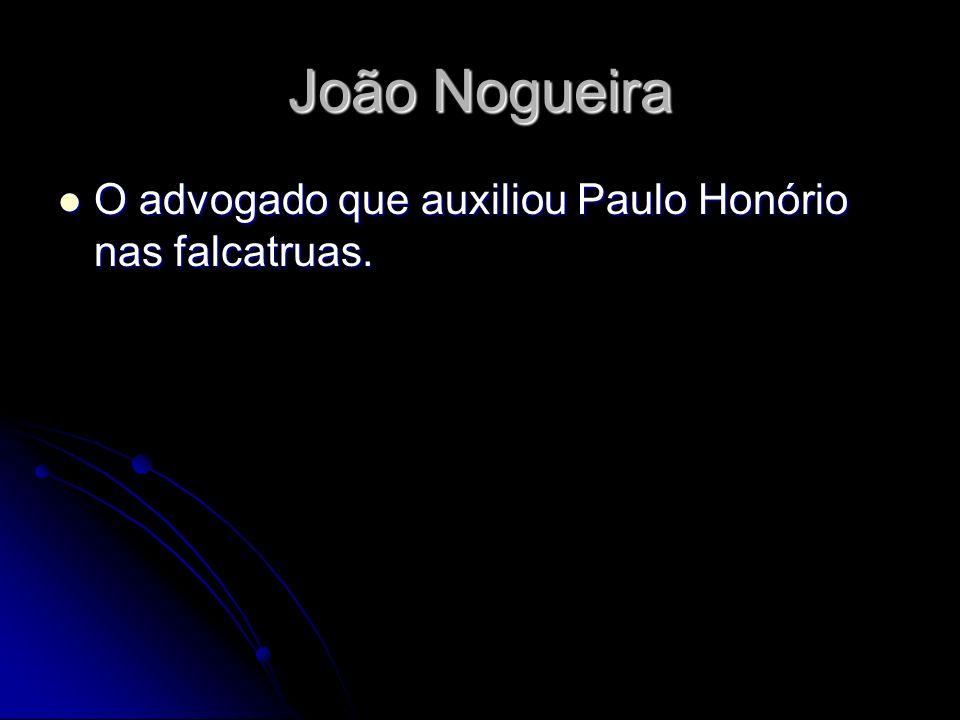João Nogueira O advogado que auxiliou Paulo Honório nas falcatruas. O advogado que auxiliou Paulo Honório nas falcatruas.