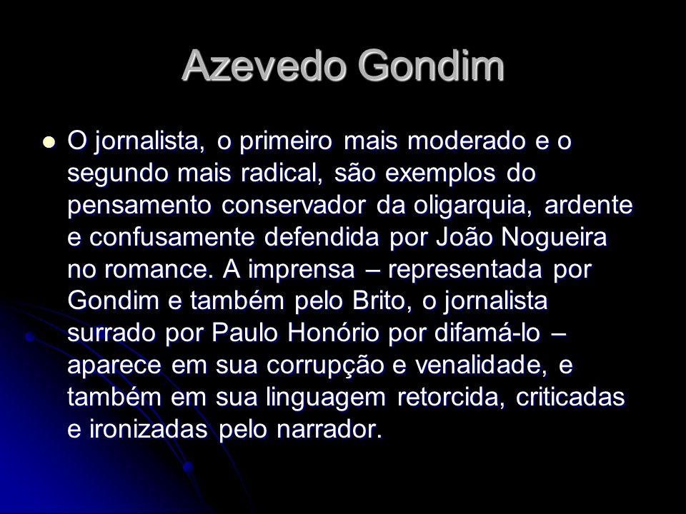 Azevedo Gondim O jornalista, o primeiro mais moderado e o segundo mais radical, são exemplos do pensamento conservador da oligarquia, ardente e confus