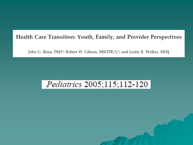 Objetivos: Análise sobre o processo de transição, com jovens, familiares e médicos envolvidos, para um maior conhecimento do processo Identificação de fatores que auxiliem ou dificultem o processo de transição