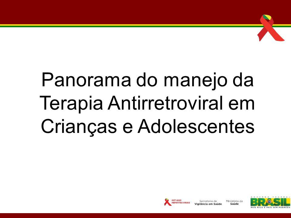 Panorama do manejo da Terapia Antirretroviral em Crianças e Adolescentes