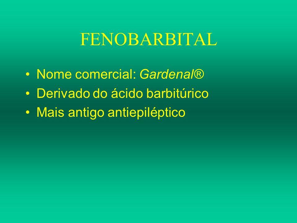 FENOBARBITAL Nome comercial: Gardenal® Derivado do ácido barbitúrico Mais antigo antiepiléptico