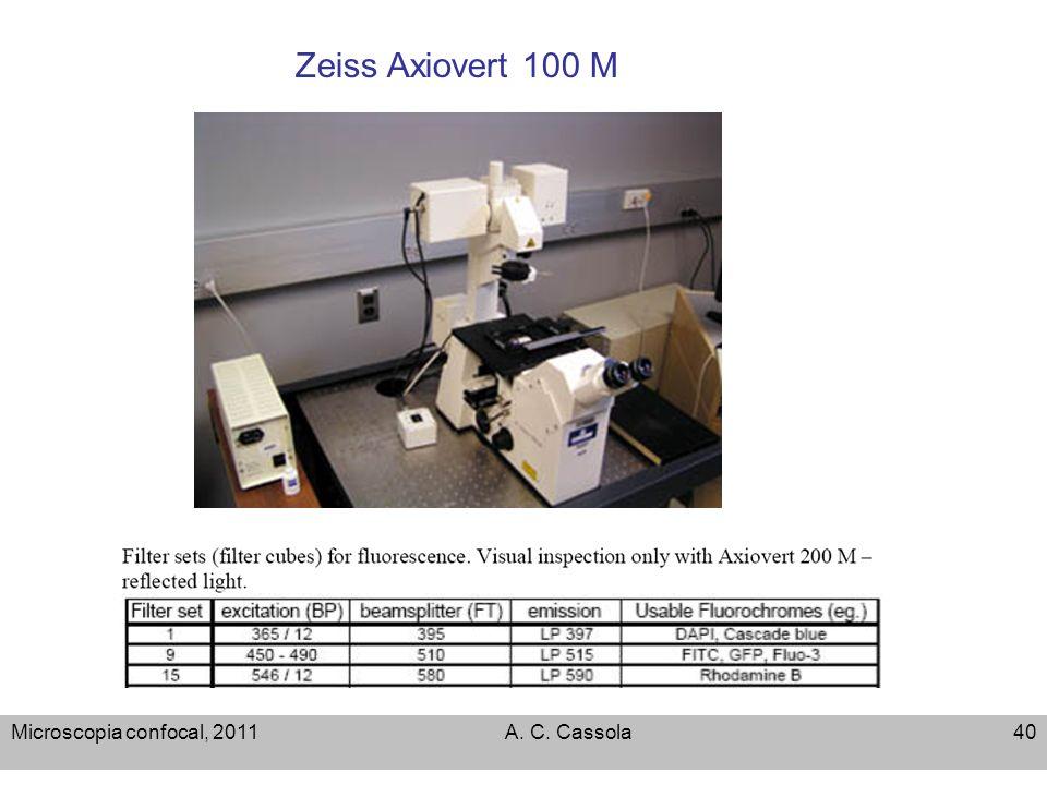 Microscopia confocal, 2011A. C. Cassola40 Zeiss Axiovert 100 M