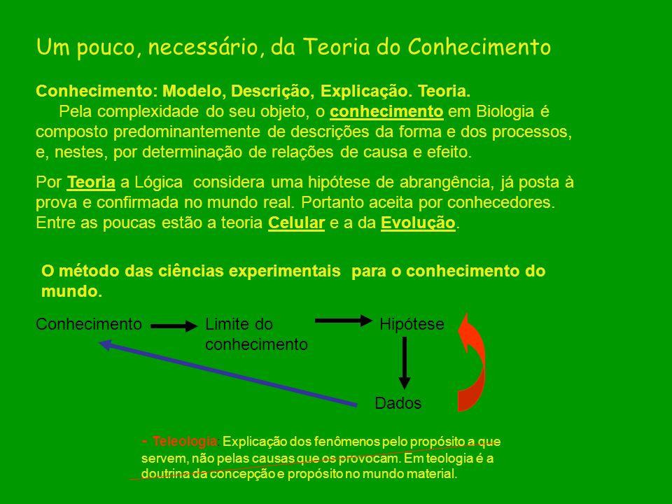 Um pouco, necessário, da Teoria do Conhecimento Conhecimento: Modelo, Descrição, Explicação. Teoria. Pela complexidade do seu objeto, o conhecimento e
