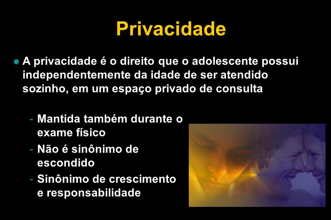 o respeito da autonomia da criança e do adolescente, o que implica para este último em privacidade e confidencialidade, faz com que esses indivíduos passem de objeto a sujeito de direito.