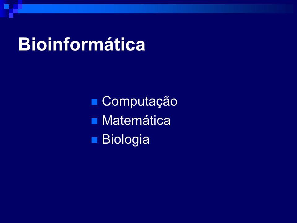 Bioinformática Computação Matemática Biologia