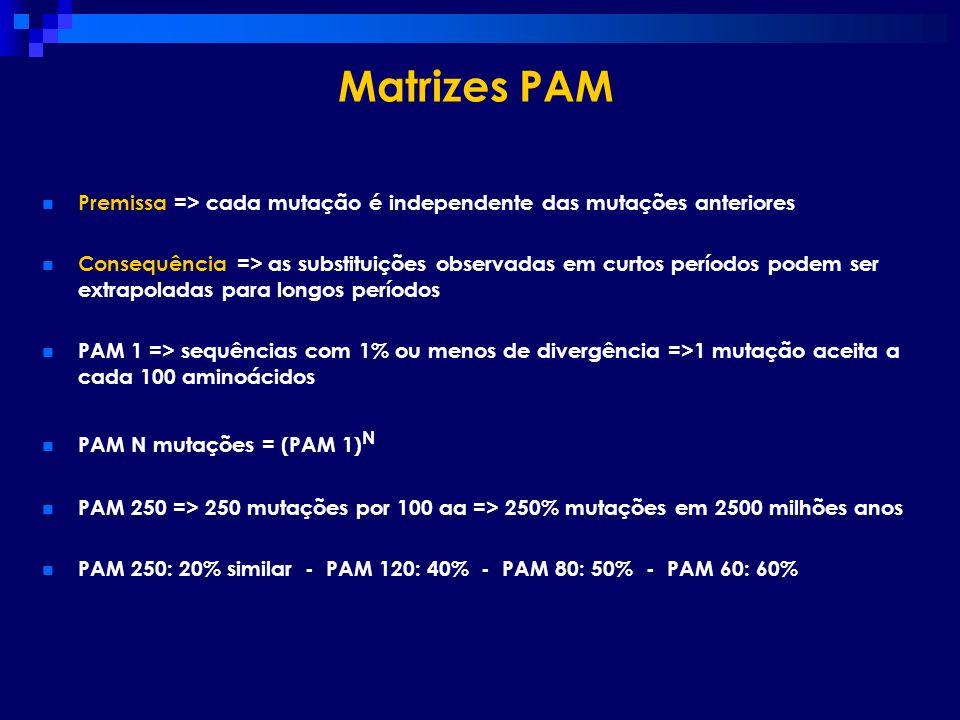 Premissa => cada mutação é independente das mutações anteriores Consequência => as substituições observadas em curtos períodos podem ser extrapoladas