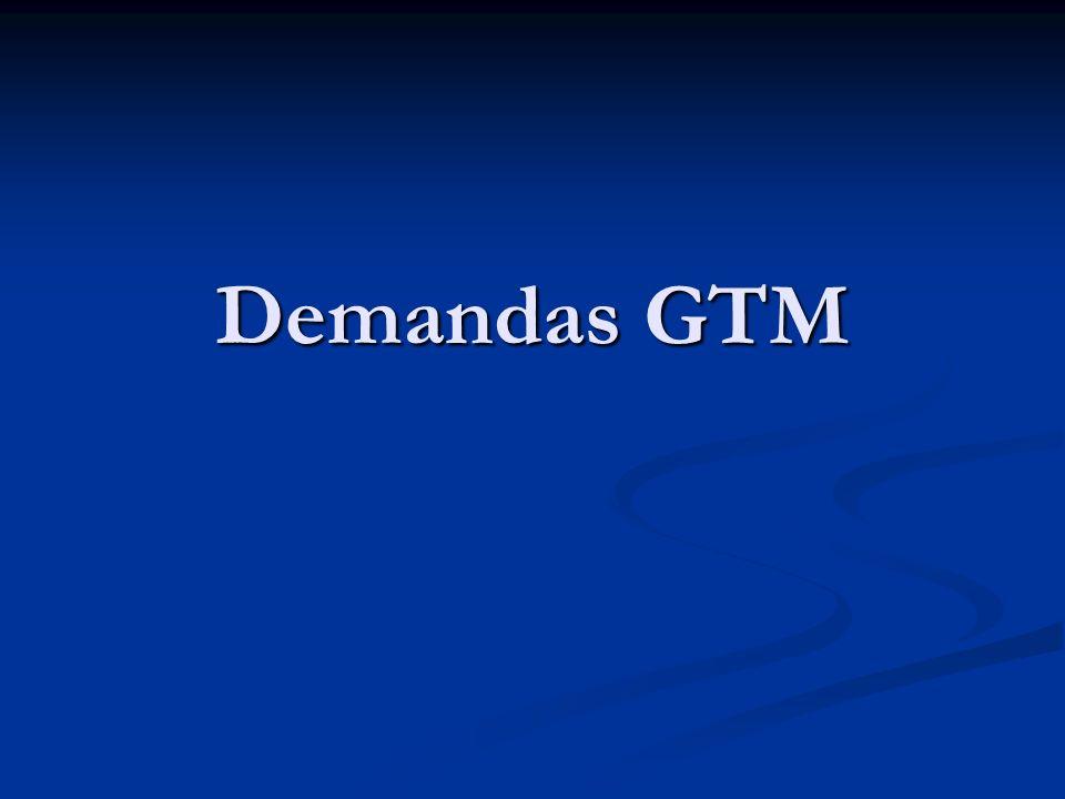 GTM – 08/2007 Demandas GTM Carga por Funcionário 1.753,28 hrs