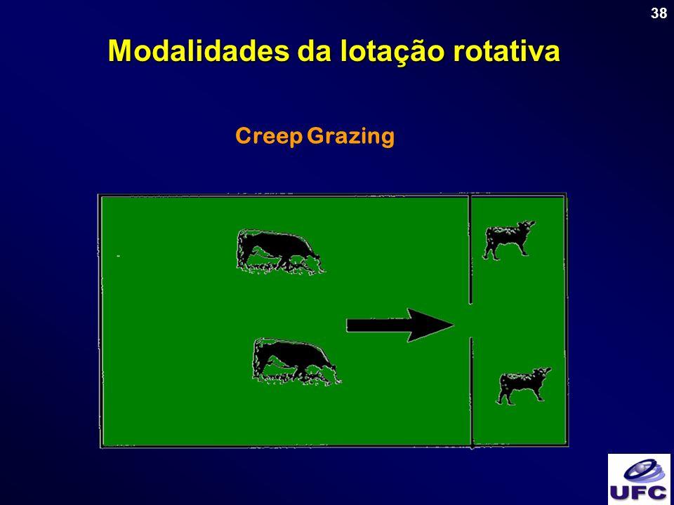 38 Creep Grazing Modalidades da lotação rotativa