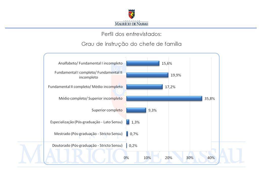 Perfil dos entrevistados: Grau de instrução do chefe de família
