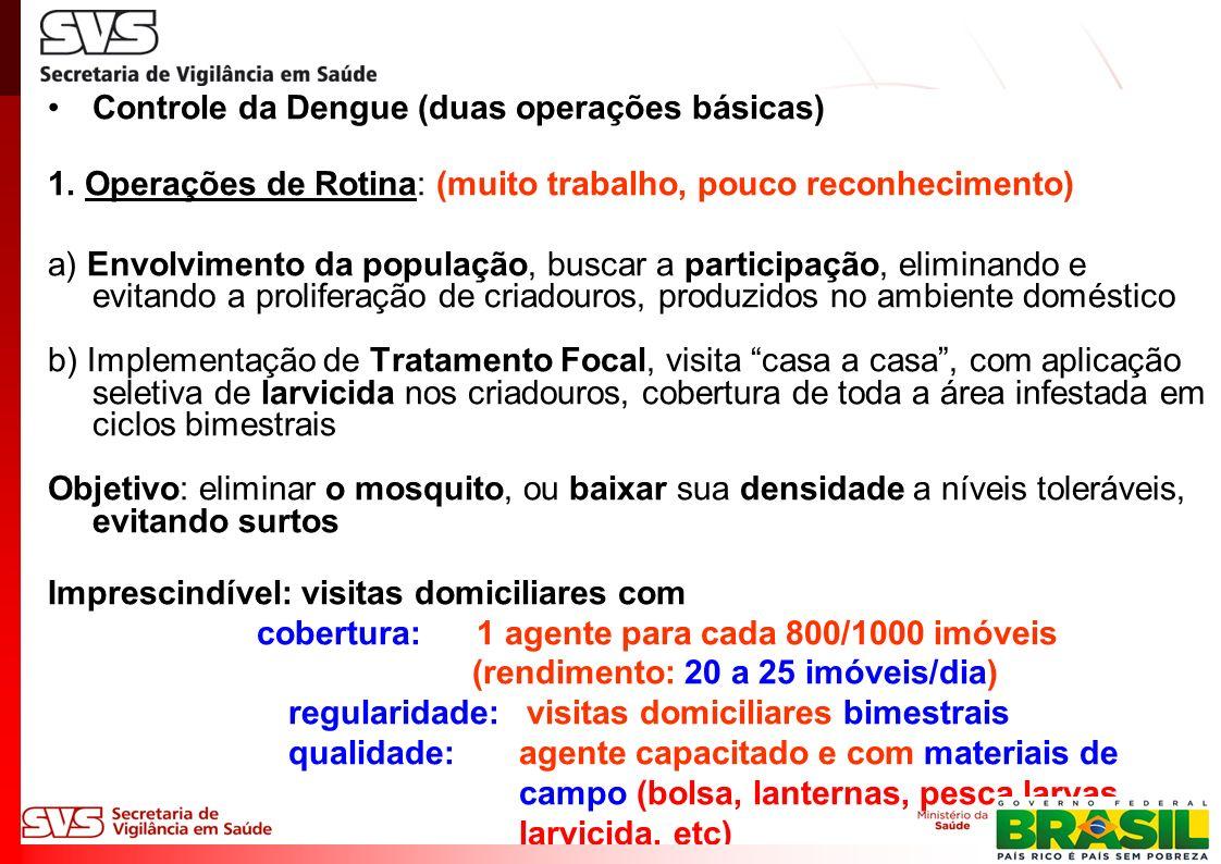 Controle da Dengue (duas operações básicas) 1.