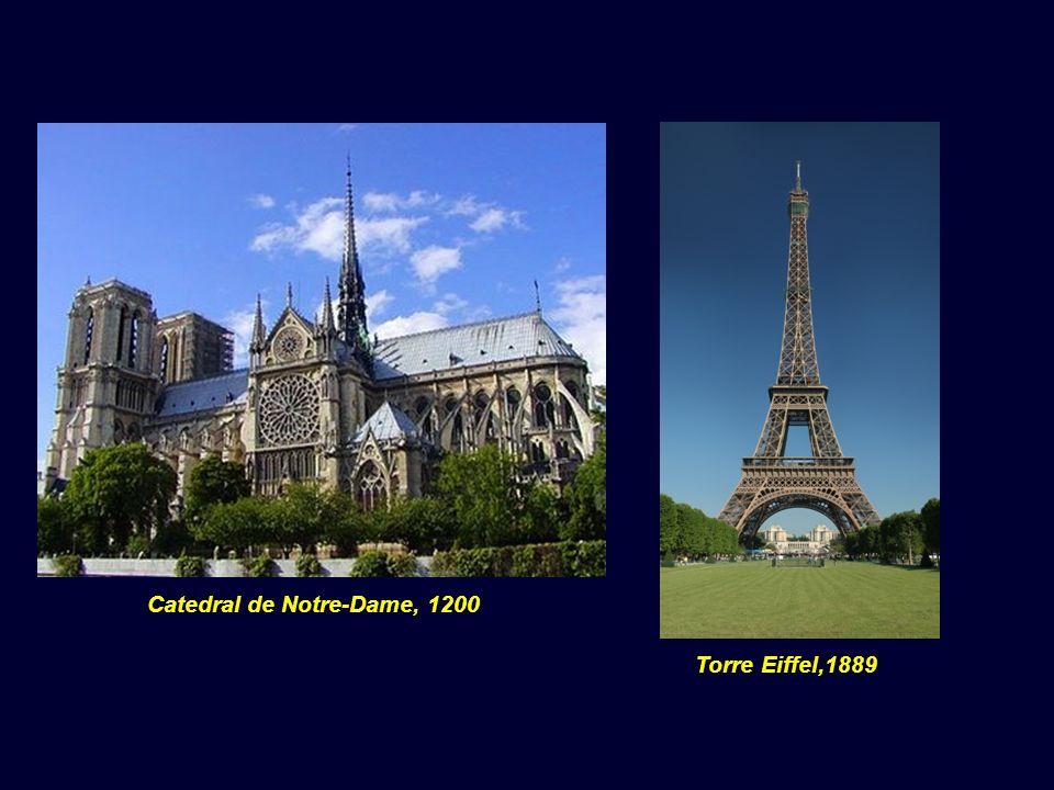 Torre Eiffel,1889 Catedral de Notre-Dame, 1200