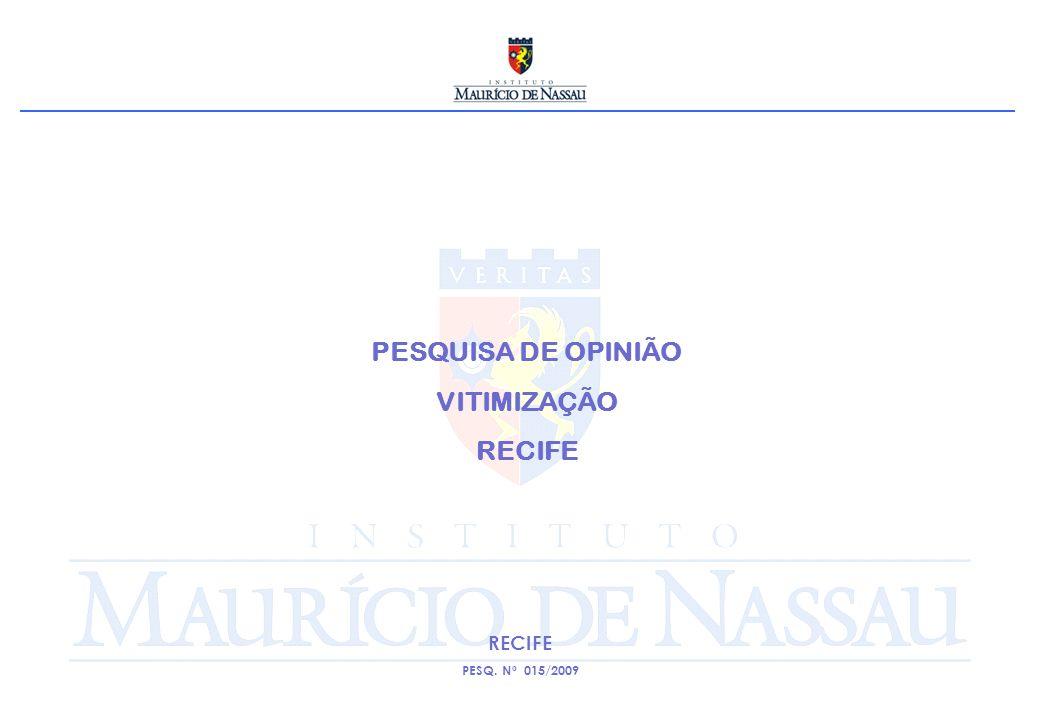 PESQUISA DE OPINIÃO VITIMIZAÇÃO RECIFE PESQ. Nº 015/2009