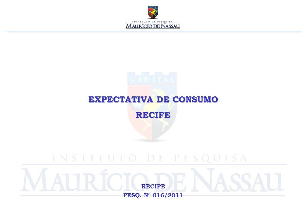 EXPECTATIVA DE CONSUMO RECIFE RECIFE PESQ. Nº 016/2011