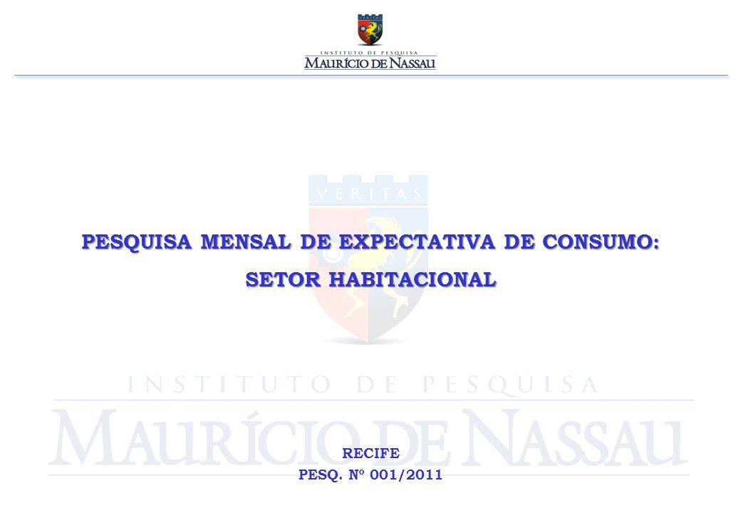 PESQUISA MENSAL DE EXPECTATIVA DE CONSUMO: SETOR HABITACIONAL RECIFE PESQ. Nº 001/2011