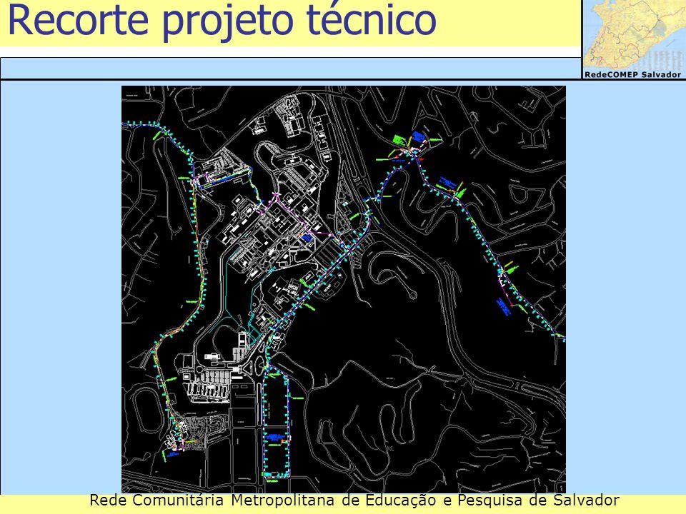 Rede Comunitária Metropolitana de Educação e Pesquisa de Salvador Recorte projeto técnico
