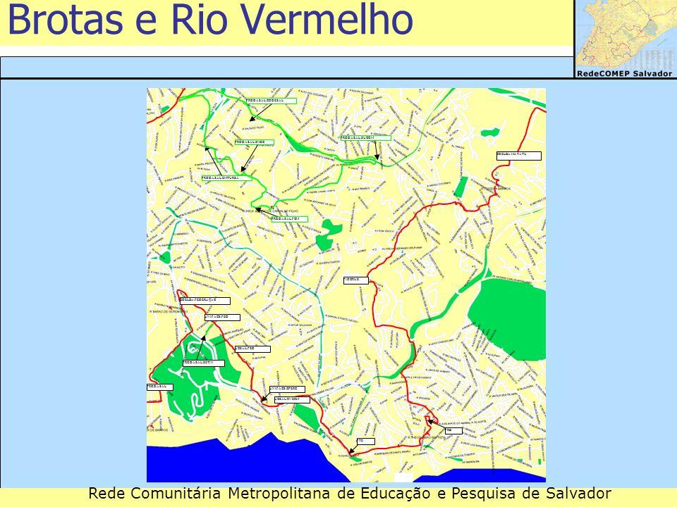 Rede Comunitária Metropolitana de Educação e Pesquisa de Salvador Brotas e Rio Vermelho FRB PRODASAL UNIFACS.CPERC FTE UNIFACS.FED UCSAL.FED PRODASAL.