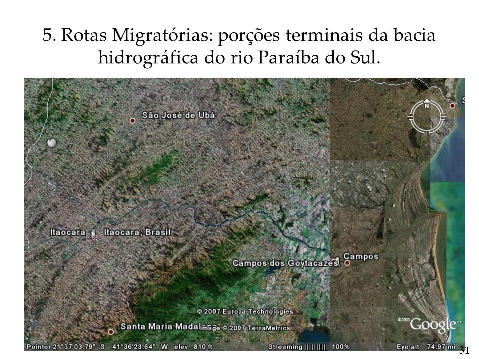 5. Rotas Migratórias: porções terminais da bacia hidrográfica do rio Paraíba do Sul. 31