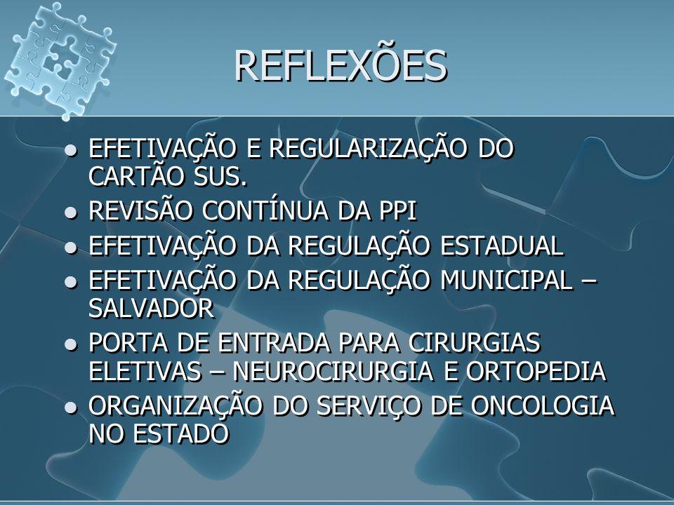 REFLEXÕES EFETIVAÇÃO E REGULARIZAÇÃO DO CARTÃO SUS.