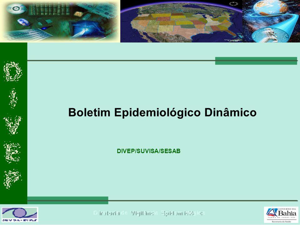 Boletim Epidemiológico Dinâmico DIVEP/SUVISA/SESAB
