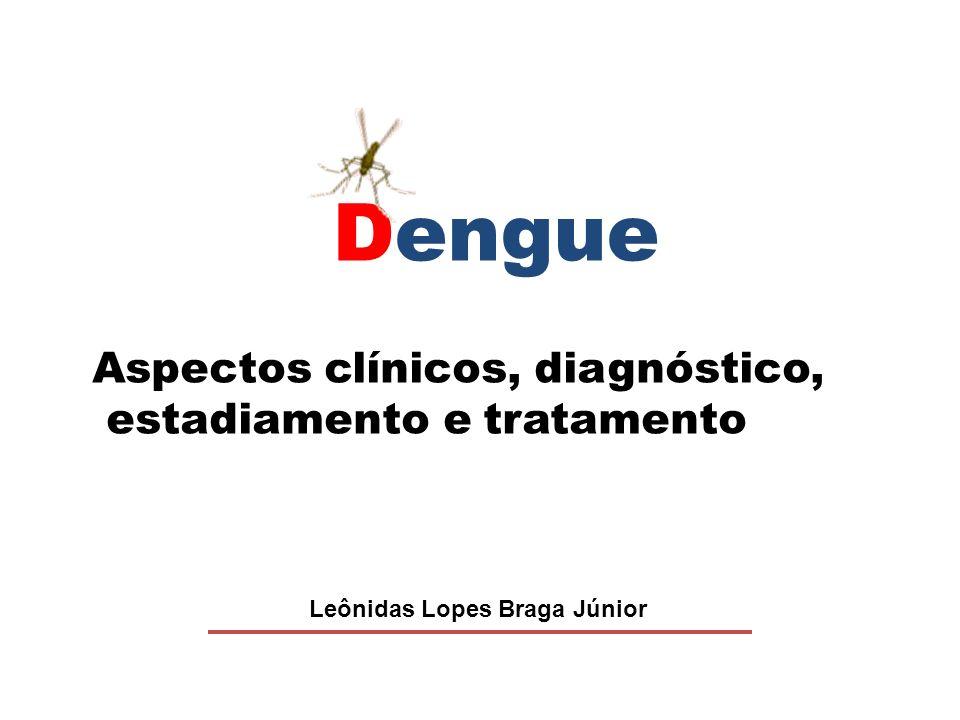 Dengue Leônidas Lopes Braga Júnior Aspectos clínicos, diagnóstico, estadiamento e tratamento