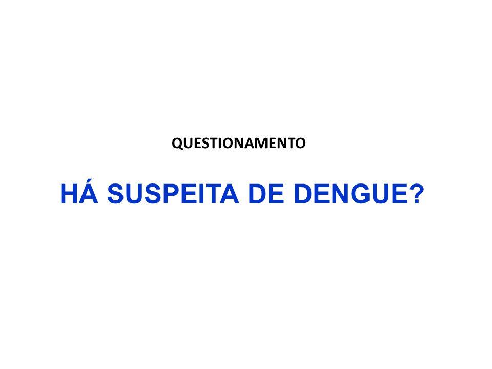 HÁ SUSPEITA DE DENGUE? QUESTIONAMENTO