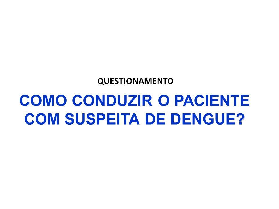 ? COMO CONDUZIR O PACIENTE COM SUSPEITA DE DENGUE? QUESTIONAMENTO