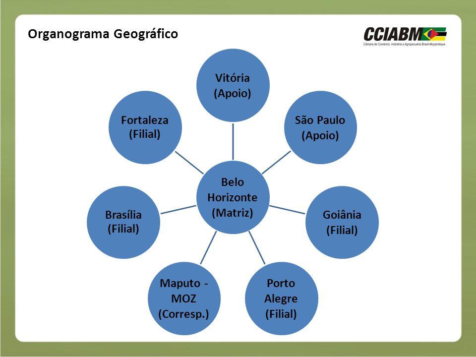 Organograma Funcional CCIABM Diretoria Gerência Nacional Gerência Regional Conselho Consultivo Conselho de Administração
