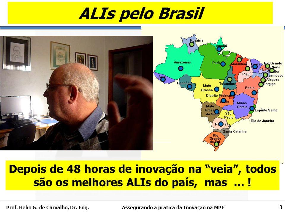 Assegurando a prática da Inovação na MPEProf. Hélio G. de Carvalho, Dr. Eng. 24 Mensagem final