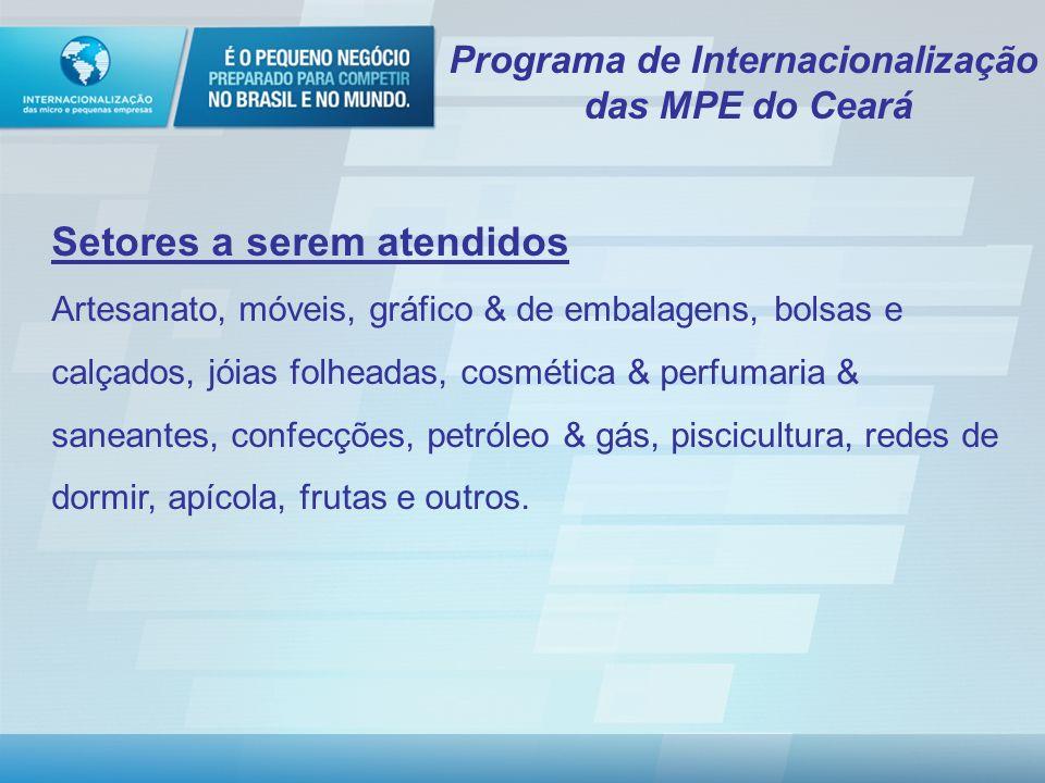 Programa Internacionalização das Micro e Pequenas Empresas O programa que vai dar lucro no Brasil e no exterior www.internacionalizacao.sebrae.com.br