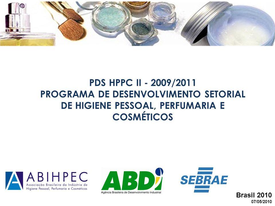 Brasil 2010 07/05/2010 PDS HPPC II - 2009/2011 PROGRAMA DE DESENVOLVIMENTO SETORIAL DE HIGIENE PESSOAL, PERFUMARIA E COSMÉTICOS