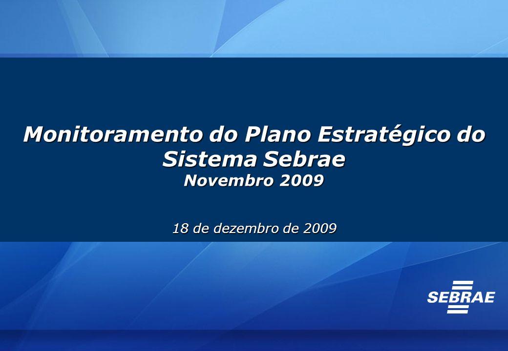 Monitoramento do Plano Estratégico do Sistema Sebrae Novembro 2009 18 de dezembro de 2009